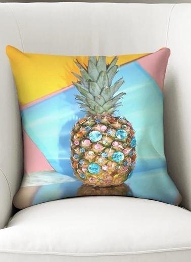 Lyn Home & Decor Yastık Kılıfı Ananas Pırlanta Renkli